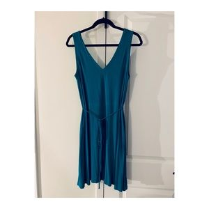 LOFT Teal Blue Tie Dress